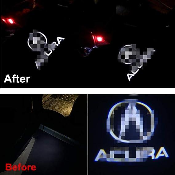 Amazon.com: Accesorios de coche logo de puerta LED luz ...