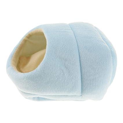 NON Sharplace Estera Cama Casa Cálido Saco Zapatillas Invierno Forma Pequeños Animales Domésticos Dormir - Azul