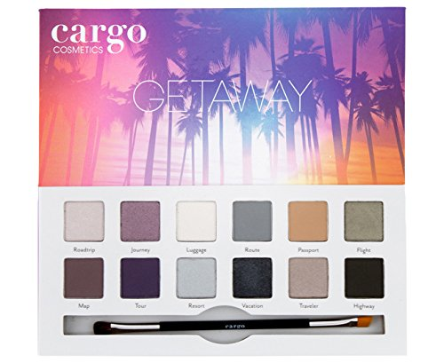 Cargo Cosmetics – High Pigment Eyeshadow Palette, Smudge-Proof, Transfer-Proof, Longwear, Crease-Proof, Getaway Eye Shadow Palette