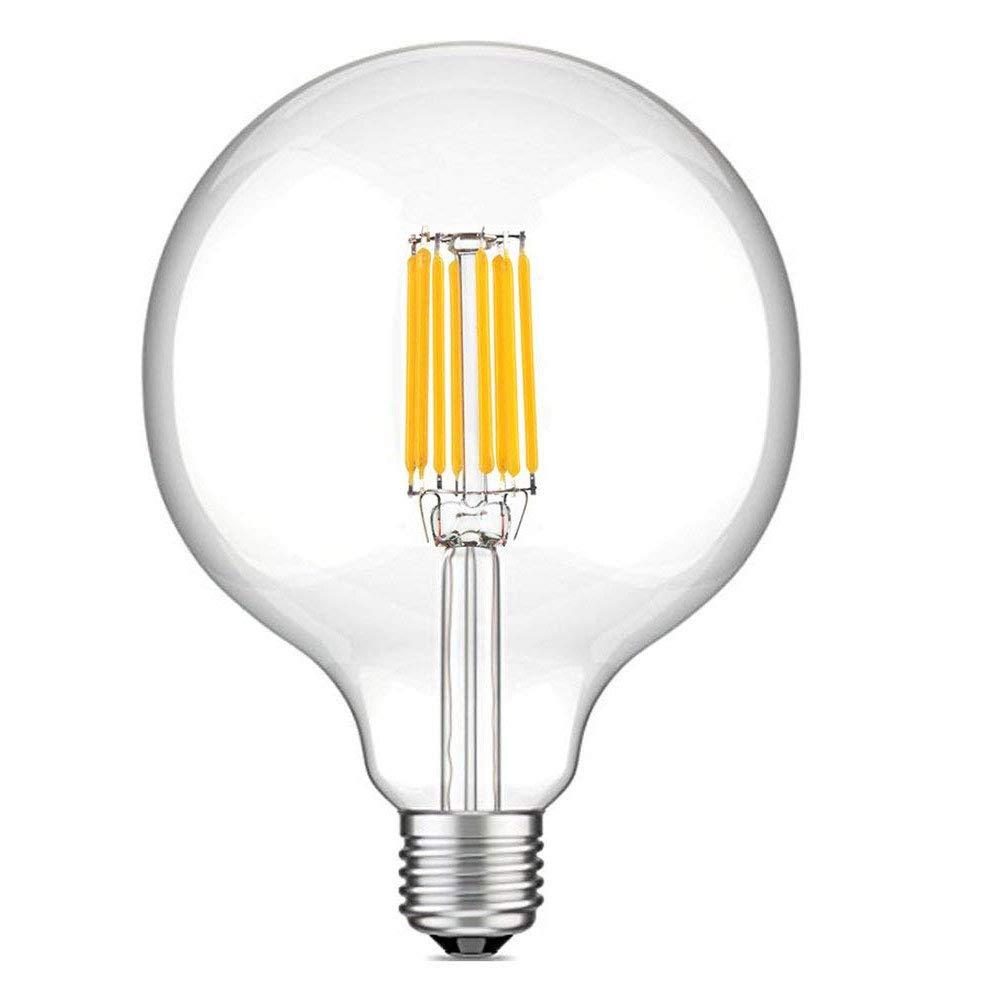 LuxVista 10W G125 E27 1000 Lúmenes LED Globo Edison Filamento Bombilla para Habitación, Comedor, Estudio, Cafetería, Pasillo, Salón, Bar (Luz Fría 6000K): ...