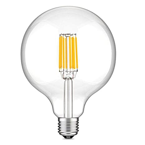 LuxVista 10W G125 E27 1000 Lúmenes LED Globo Edison Filamento Bombilla para Habitación, Comedor, Estudio, Cafetería, Pasillo, Salón, Bar (Luz Cálida ...