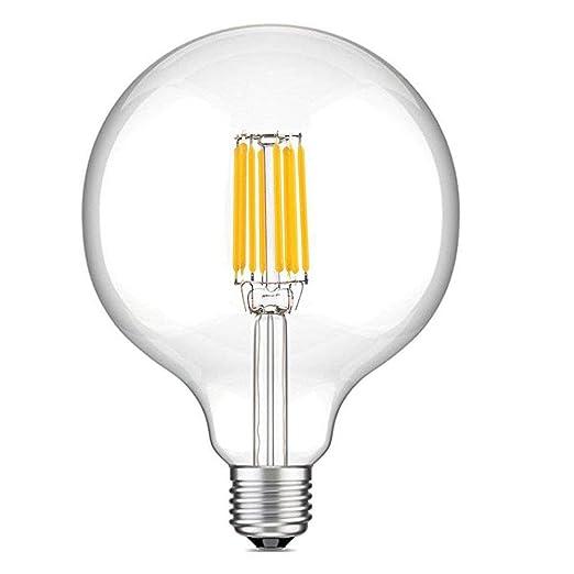 Lampade A Led A Filamento.10w G125 E27 Edison Led Filamento Vetro Globo Lampadina Luxvista Lampada Decorativa Classico Sfarfallio Non Dimmerabile Luce Calda 2700k Equivalente