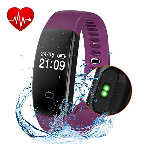 Fitness Tracker, Activity Tracker Smart Band Wireless Watch Bluetooth 4.0 Wristband Waterproof...