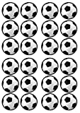 Football Soccer Theme Edible PREMIUM THICKNESS SWEETENED VANILLA, Wafer Rice Paper Cupcake Toppers/Decorations by Cian's Cupcake Toppers Ltd