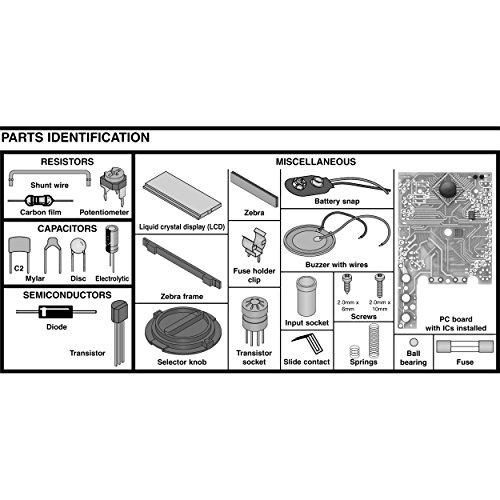 Elenco M-1008K - Digital Multimeter Solder Kit | Lead Free Solder | Great STEM Project | Soldering Required by Elenco (Image #4)