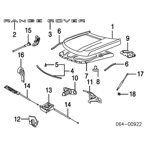 New Land Rover Range Rover Sport Hood Upper Gas Strut Set Of 2 Part