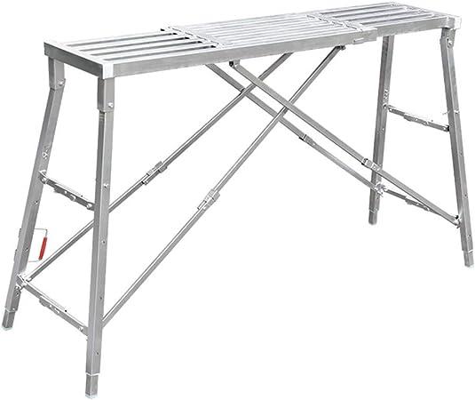 YXZQ Plataforma de Trabajo Plegable Escalera de Yeso Escalera de Mano Banco portátil Ajustable para Trabajo Pesado, 200 kg (tamaño: 160 × 25 cm): Amazon.es: Hogar