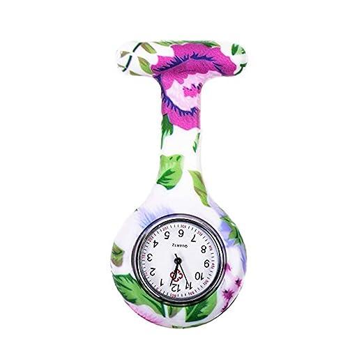 naisicatar reloj de enfermera broche Fob des infirmieres Túnica Unisex Doctor Enfermera Flor Broche colgante de