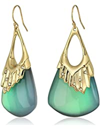 Crystal Studded Pleated Wire Drop Earrings