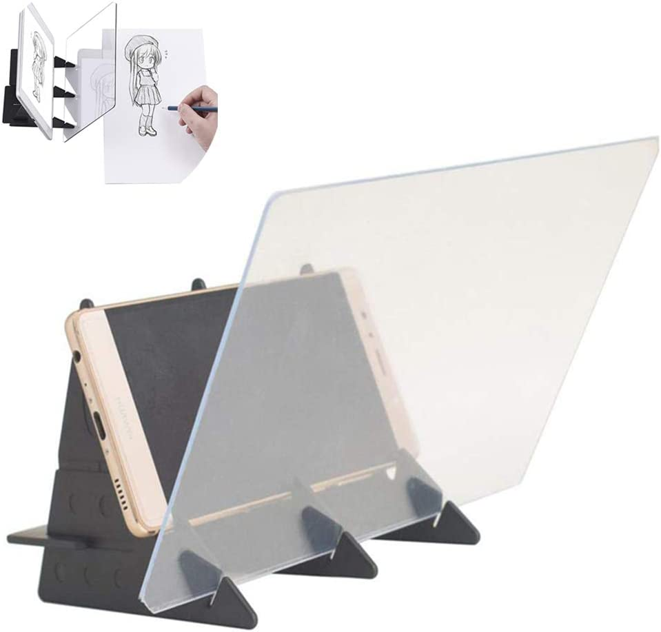 Proyectores para Dibujar Profesional,Reflexión de Proyección de Espejo del Bosquejo del Teléfono Tablero de Dibujo de Plantilla para Tableta/Teléfono etc.