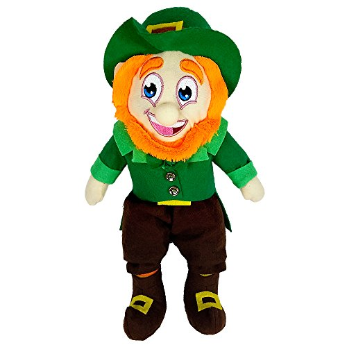 St Patricks Day Decorations 14 Inch Leprechaun Doll Toy Figurine With Shamrock Hat Irish Plush Toys for $<!--$12.95-->
