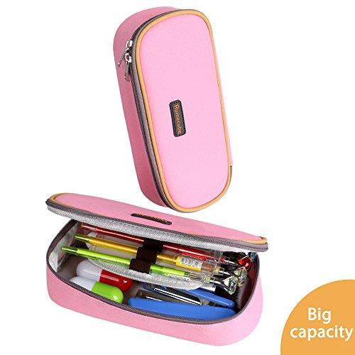 Pencil Case, Homecube Big Capacity Pen Bag Makeup Pouch Durable (Personalized Pencil Cases)
