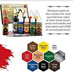 The Army Painter Miniatures Paint Set, 10 Model Paints with Free Highlighting Brush, 18ml/Bottle, Miniature Painting Kit, Non Toxic Acrylic Paint Set, Wargames Hobby Starter Paint Set (New Version) by The Army Painter