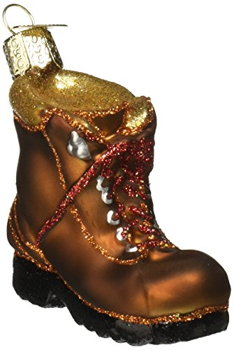 Old World Christmas Ornaments: Hiking Boot Glass Blown Ornaments for Christmas Tree (32092)
