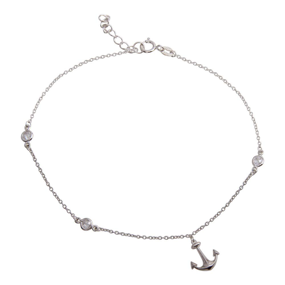 00116-8SPRING Biyu 8 Line Flexible CZ Stone Gold Plated Bracelet