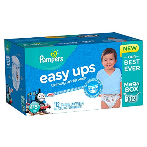 Pampers Get outstanding leak protection Easy Ups Training Pants Size 6 (4T5T) Value Pack Boys Diapers 78 Count by Pampers