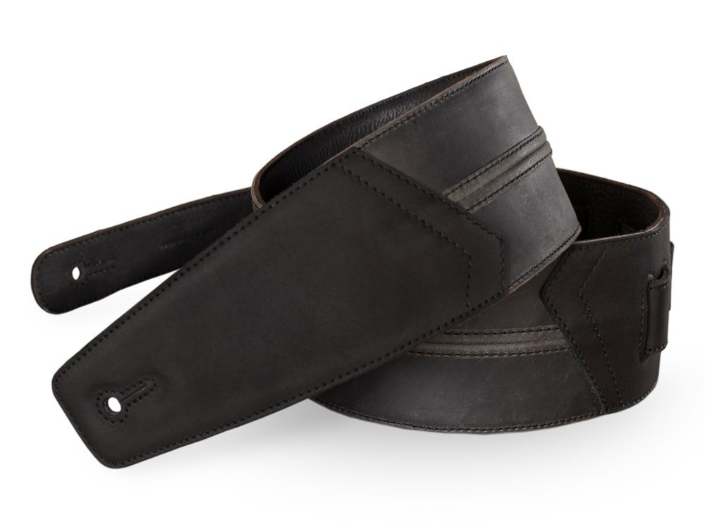 Anthology Gear ''Straight Up'' Full Grain Leather Guitar Strap For Electric, Acoustic, and Bass Guitars - Aged Steel Color