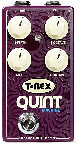 Machine Effects Pedal - T-Rex Engineering QUINT-MACHINE Pitch Guitar Effects Pedal with Fully Adjustable Octave Up, Octave Down, and Fifth Up Controls; Simulating Organ, Synth or 12-String Sound (10094)