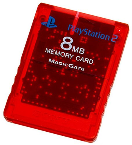 Playstation 2 only memory card (8MB) Crimson Red