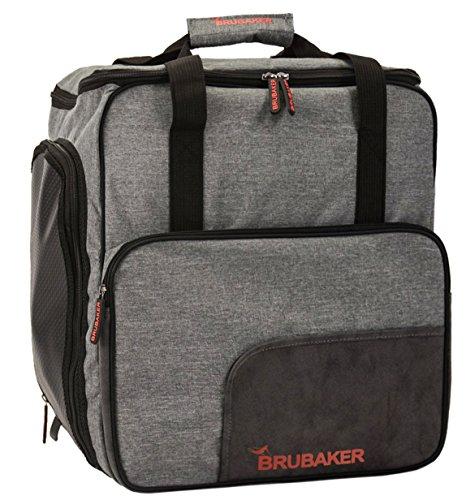BRUBAKER Ski Boot Bag for Boots, Helmet, Gear and Apparel - Gray by BRUBAKER