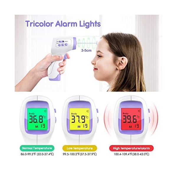 Thermometre Frontal Adulte, KKmier Thermometre sans Contact avec Affichage à LCD, Thermomètre Frontal Infrarouge Bébé…