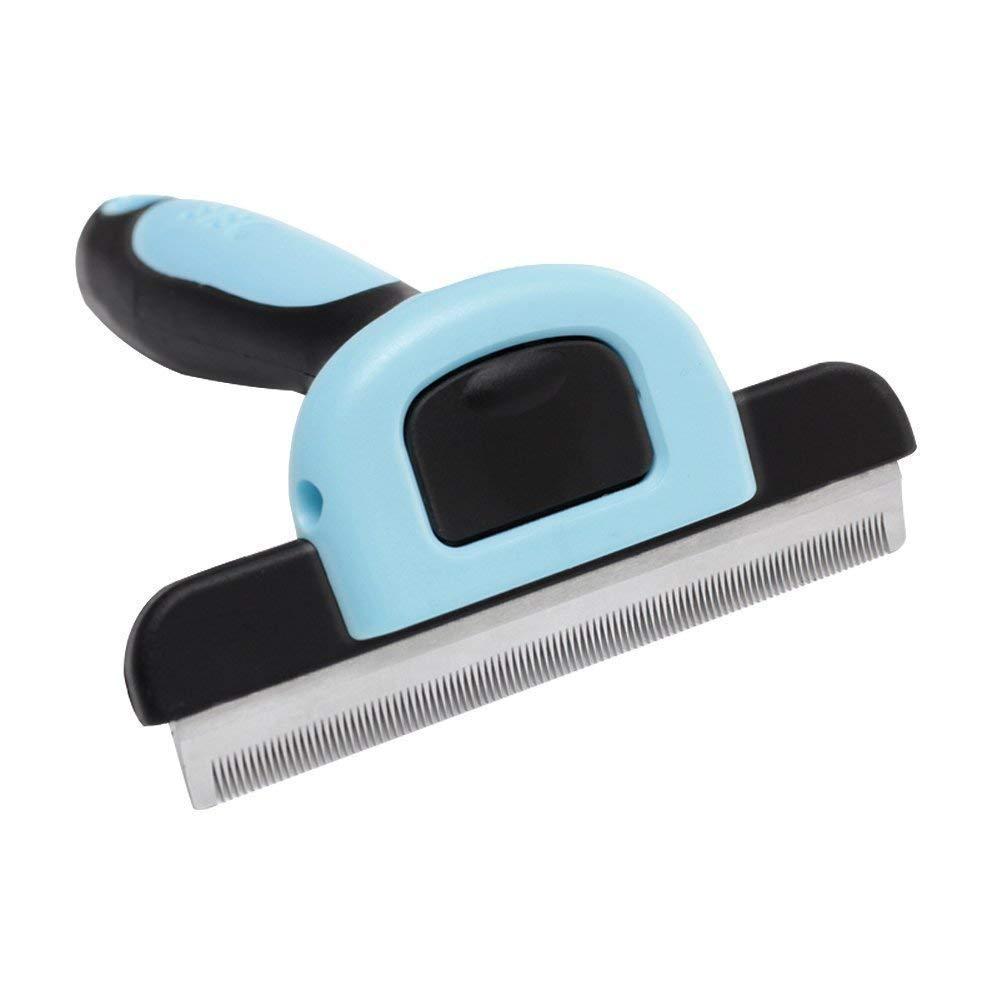 KENGBOU1 Pet Dog Grooming Brush Shedding Tool - Shedding Brush & Deshedding Tool for Cats and Dogs Remove Short Long Hair