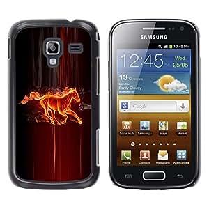 TECHCASE**Cubierta de la caja de protección la piel dura para el ** Samsung Galaxy Ace 2 I8160 Ace II X S7560M ** Fire Horse Creature Fairytale Mythology Art