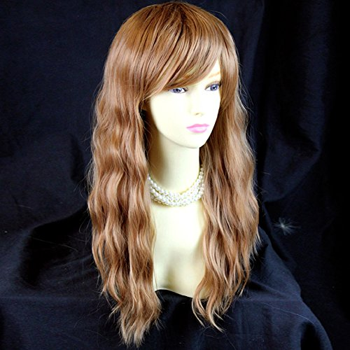 Beautiful Long Blonde mix Auburn Heat Resistant Ladies Wigs from ()