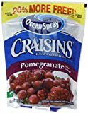 Ocean Spray Craisins Dried Cranberries, Pomegranate, 12 Ounce (Pack of 12)