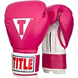 Title Classic Pro Style Training Gloves, Hot Pink/White, 12 oz
