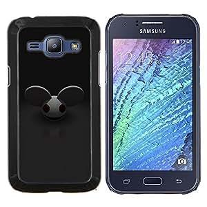 YiPhone /// Prima de resorte delgada de la cubierta del caso de Shell Armor - Ratón Orejas grandes roedores personaje de dibujos animados lindo - Samsung Galaxy J1 J100