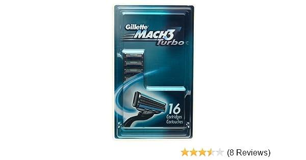 Amazon.com: Gillette MACH3 Turbo Shaving Cartridges (16 Cartridges): Beauty