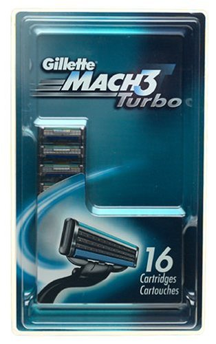 Gillette MACH3 Turbo Shaving Cartridges (16 Cartridges)