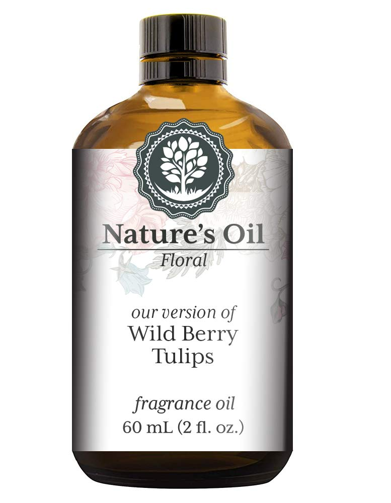 Wild Berry Tulips Fragrance Oil (60ml) For Diffusers, Soap Making, Candles, Lotion, Home Scents, Linen Spray, Bath Bombs, Slime