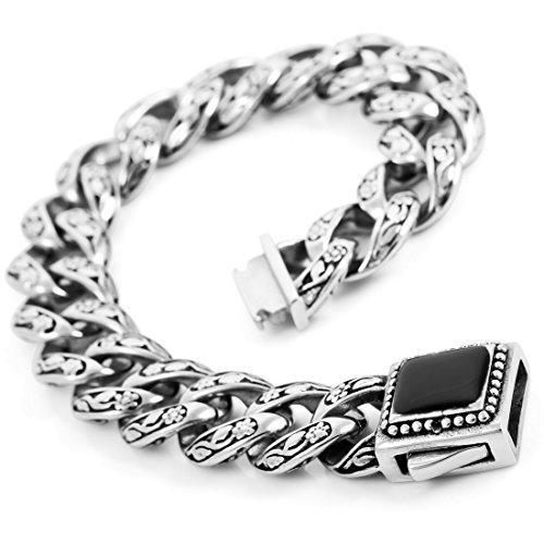 INBLUE Stainless Enamel Bracelet Silver
