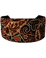 Bargain Headbands, Sophisticated Bohemian Retro Earth Tone Paisleys and Flowers