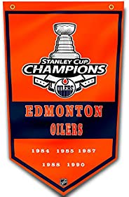 Edmonton Oilers Flag 3x5 Ft/5-Time NHL Championship Grommets Indoor House Banner 3'x5' Stanley Cup Cha
