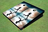 Girl Running Theme Corn Hole Boards Cornhole Game Set
