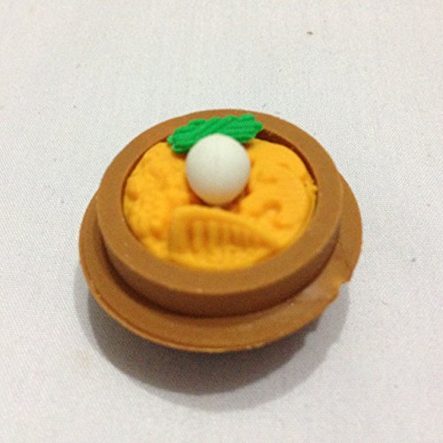 Soup Korea Food Brown Bolw for Children's Erasers Miniature Dollhouse Accessories