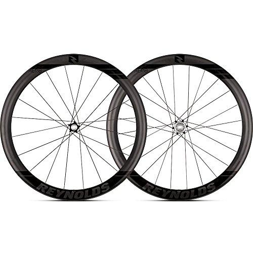 Reynolds Cycling Aero 46 Disc Brake Carbon Fiber Wheelset for Road Bikes, Shimano Compatible (Wheels Bike Reynolds)
