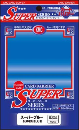 Barrier Super Card Sleeves (80 Piece), Blue, 92 x 66mm