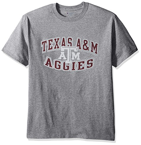 Texas A&m Aggies Oxford (NCAA Texas A&M Aggies Men's Champ Short sleeve T-Shirt 7, Medium, Granite/Oxford)