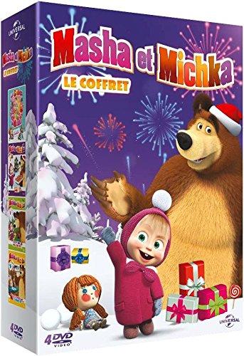 Masha et Michka - Coffret: La fille des neiges + Première rencontre + Joyeux Noël + La rentrée des classes