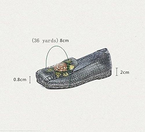Tête R De Chaussures Carrée Le YNXZ Des Gris Antidérapant Jaune Aux Peau Sandales Peu De Confortable En Respirant SHOE Semelle Caoutchouc Profonde Plates Vache Personnalité Bouche Femmes Impression Fleurs vWYFFw8xXq