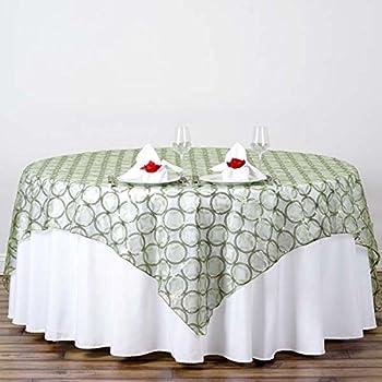 amazon com tableclothsfactory 85x85 wedding reseda organza table