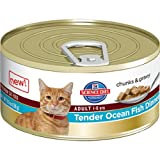 Hill's Science Diet Adult Tender Ocean Fish Dinner Chunks and Gravy Cat Food Can, 2.9-Ounce, 24-Pack, My Pet Supplies