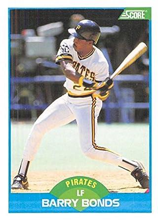 b1b9648f401 Amazon.com  Baseball MLB 1989 Score  127 Barry Bonds Pirates ...