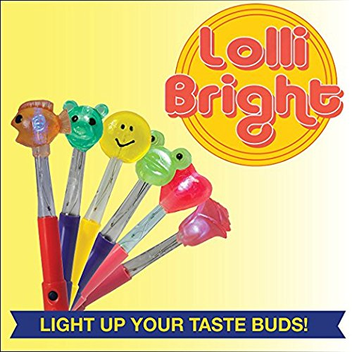 Light Up Lollipops (Light-Up Lollipop - Lollibright - Fun and Safe - Made from Natural Sugar - Six Flavors/ Characters - Fun And Safe - No MSG - Gluten Free - Added Vitamin)