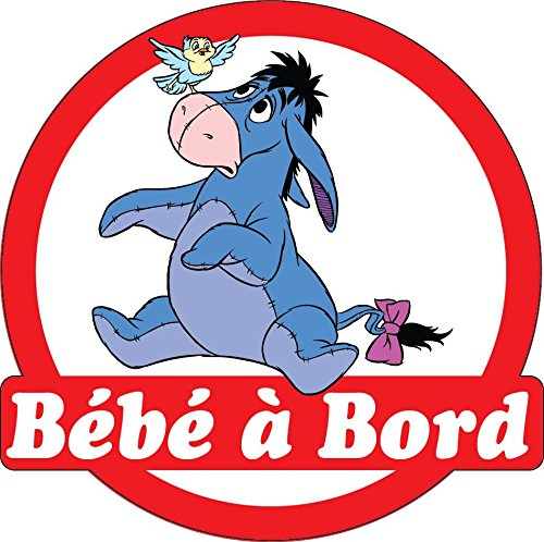 Stickersnews - Sticker autocollant auto voiture Bébé à bord Bouriquet 16x16cm réf 3570