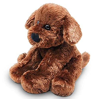 Fluffuns Puppy Dog Stuffed Animals - Stuffed Dog Plush Toys - 9 Inches (Brown Golden White): Toys & Games